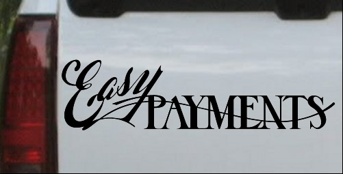 Easy Payments Decal