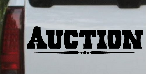 Auction Decal Window Sign