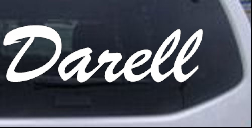 Darell Names car-window-decals-stickers