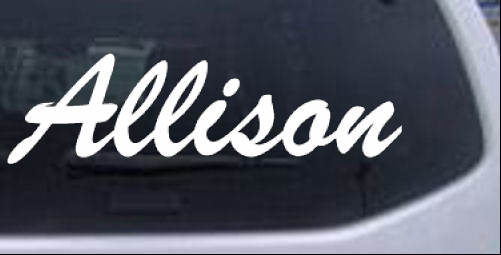 Allison Names car-window-decals-stickers