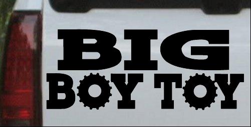 Big boy toy car or truck window laptop