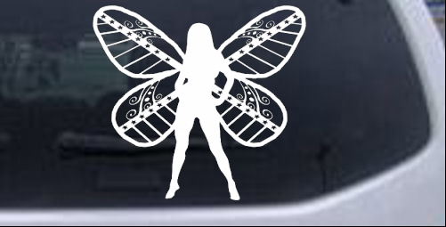 Dixie Pixie Fairy No Text Country car-window-decals-stickers
