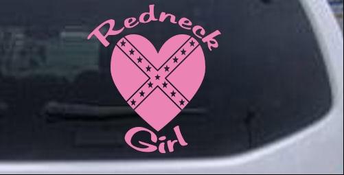 Redneck Girl Rebel Heart Car Or Truck Window Laptop Decal Sticker - Redneck window decals for trucks