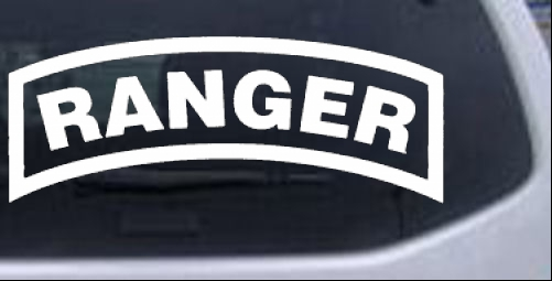 Ranger Car or Truck Window Laptop Decal Sticker
