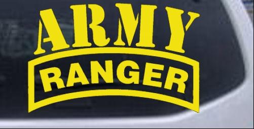 Army Ranger Car or Truck Window Laptop Decal Sticker