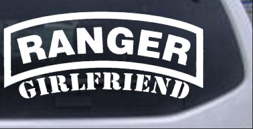 Ranger Girlfriend Military car-window-decals-stickers