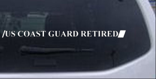US COAST GUARD RETIRED 1 line Military car-window-decals-stickers
