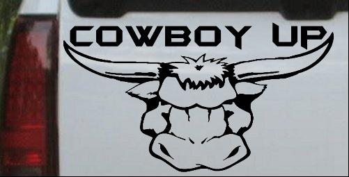 Cowboy Up Bull Head