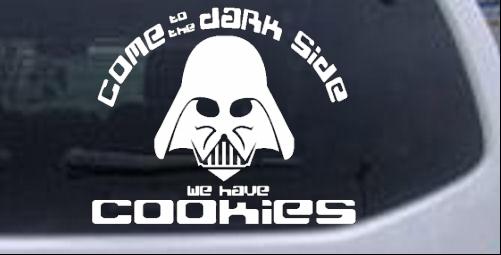 Darth Vader Dark Side Cookies Funny car-window-decals-stickers