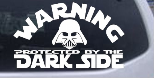 Star wars darth vader dark side car or
