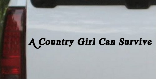 A Country Girl Can Survive acid font