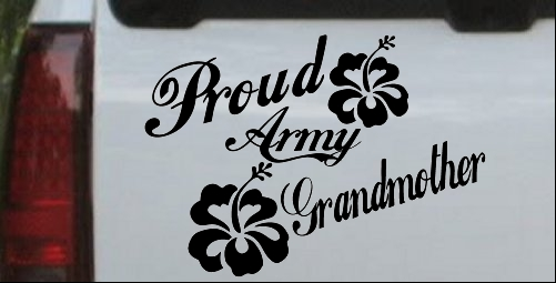 Proud Army Grandmother Hibiscus Flowers