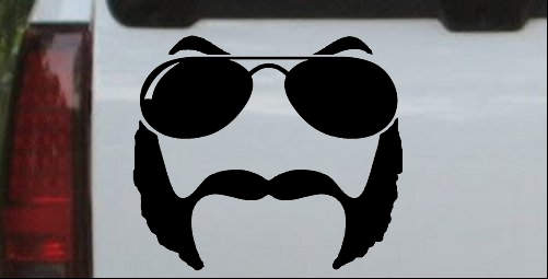 Sunglasses Mustache Mutton Chops