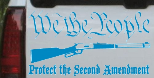 Protect second amendment pro gun car truck window