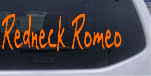 Redneck Romeo Bailey Car Or Truck Window Laptop Decal Sticker EBay - Redneck window decals for trucks
