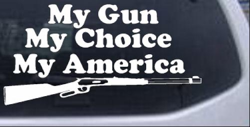 Yosemite Sam Anti Gun Control Pro Gun Car or Truck Window Laptop Decal Sticker