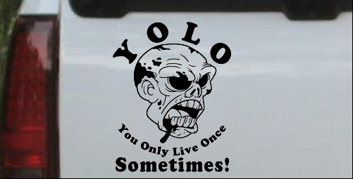 YOLO You Only Live Once Sometimes Zombie