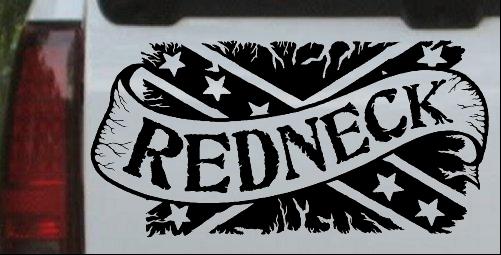 Redneck Banner Rebel Flag Car Or Truck Window Decal Sticker Or - Redneck window decals for trucks