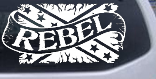 Rebel Banner Rebel Flag Country car-window-decals-stickers