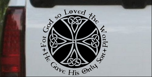 Celtic Cross John 3:16 God Loved the World
