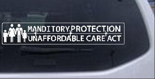 Unaffordable Care Act Political car-window-decals-stickers