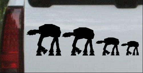 AT AT Star Wars Stick Family