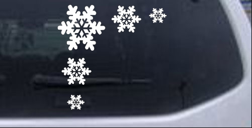 Snowflake Corner Design Other car-window-decals-stickers