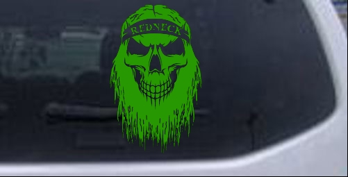 Redneck Skull Beard Car Or Truck Window Laptop Decal Sticker EBay - Redneck window decals for trucks