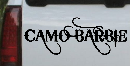 Camo barbie country redneck girl car or truck