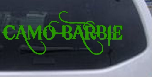 Camo Barbie Country Redneck Girl Car Or Truck Window Laptop Decal - Redneck window stickers for trucks