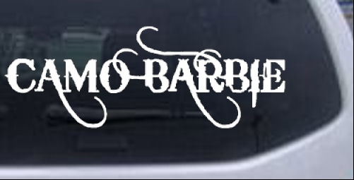 Camo Barbie Country Redneck Girl Car Or Truck Window Laptop Decal - Redneck window decals for trucks