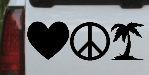 Love Peace and Palm Tree