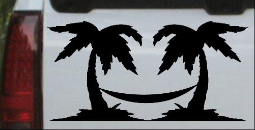 Palm Trees with Hammock Beach
