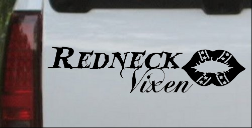 Redneck Vixen Girl with Rebel Lips