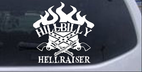 Hillbilly Hellraiser Car Or Truck Window Decal Sticker Rad Dezigns - Redneck window decals for trucks