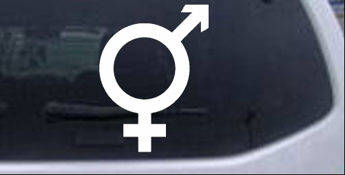 Male Female Symbol Other car-window-decals-stickers