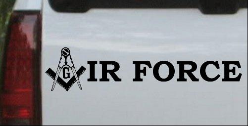 Masonic Freemason Square Compass Air Force
