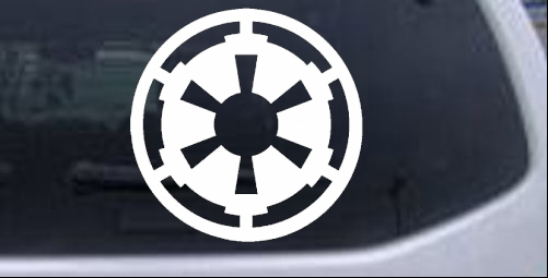 star wars galactic empire emblem car or truck window. Black Bedroom Furniture Sets. Home Design Ideas