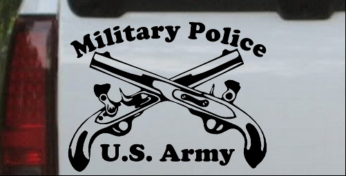 Military Police Cross Pistols With Text