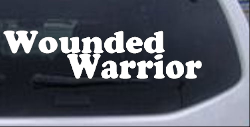 Wounded Warrior Car or Truck Window Laptop Decal Sticker