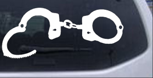 Handcuffs Other car-window-decals-stickers