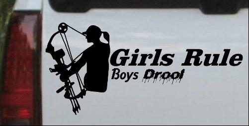 Girls Rule Boys Drool Bow Girl