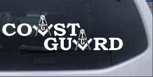 Coast Guard Masonic Freemason Car or Truck Window Laptop Decal Sticker