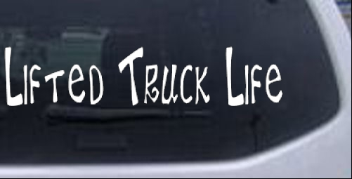 Lifted Truck Life Car or Truck Window Decal Sticker - Rad Dezigns