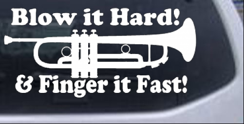 Blow hard finger fast funny band trumpet car