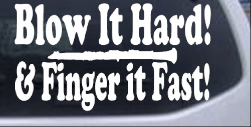 Blow Hard Finger Fast Funny Band Clarinet Car Truck Window Laptop - Window decals for vehicles