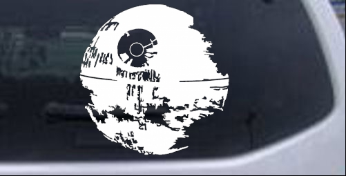 Star wars death star car or truck window laptop decal sticker