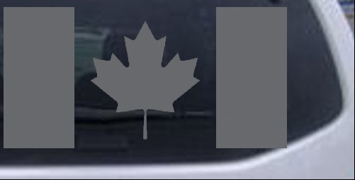 Flag Of Canada Maple Leaf Car Or Truck Window Laptop Decal Sticker - Window stickers for cars canada