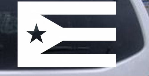 Puerto rico flag car or truck window decal sticker