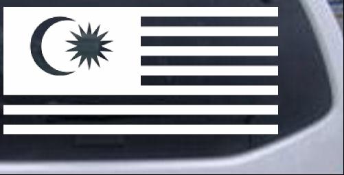 Malaysia flag car or truck window decal sticker
